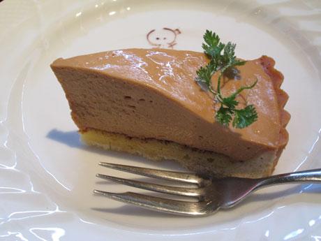 レアチーズのキャラメルタルト