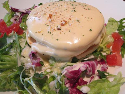 チーズフォンデュパンケーキアップ