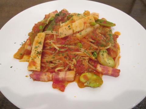 春野菜とベーコン1