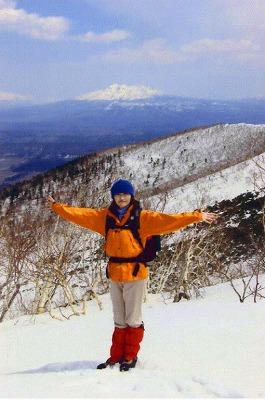 残雪の西別岳
