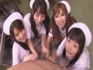 美少女ナース達が包茎患者を次々と抜き絞りゴックン!