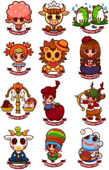 12星座キャラクターイラスト