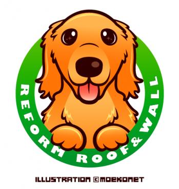 ゴールデンレトリバー/犬のイラスト