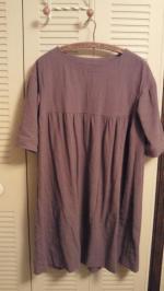 2012Nov紫の麻のワンピ