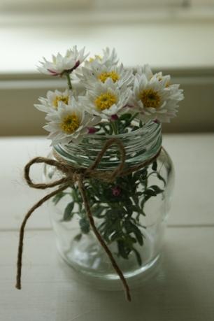 切り花でペーパーカスケード