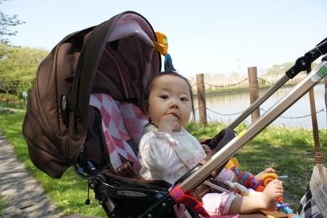 公園でひ~ちゃんとランチ♪