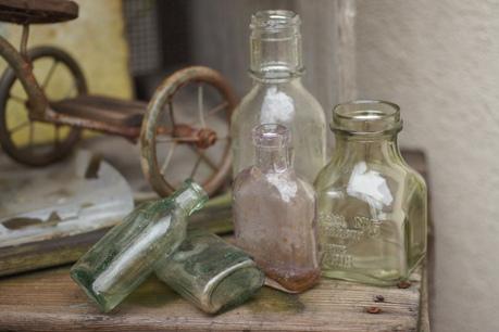 大好きなガラス瓶たち☆*。