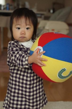大きなボールも持てるょ(*´艸`)