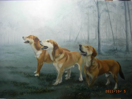 三頭の猟犬