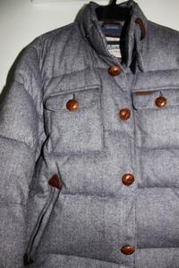 Bridgewater Blue Herringbone Herringbone Down Insulated Jacket