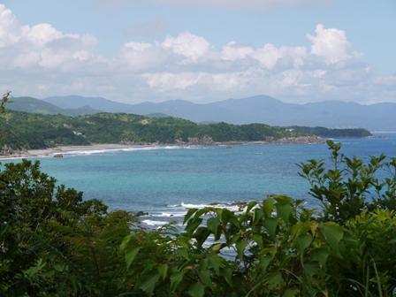 平野ビーチが見えます。