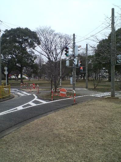 貝塚公園・交差点