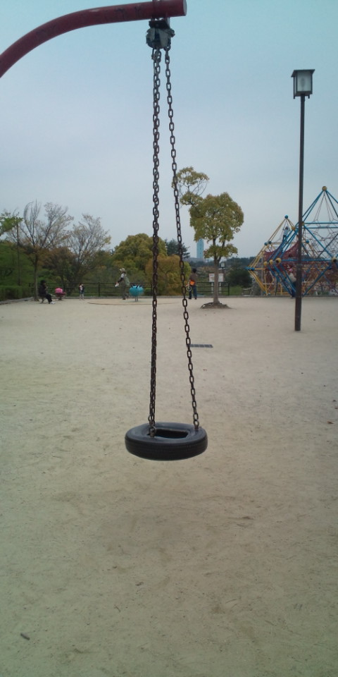 白水公園・タイヤのアスレチック