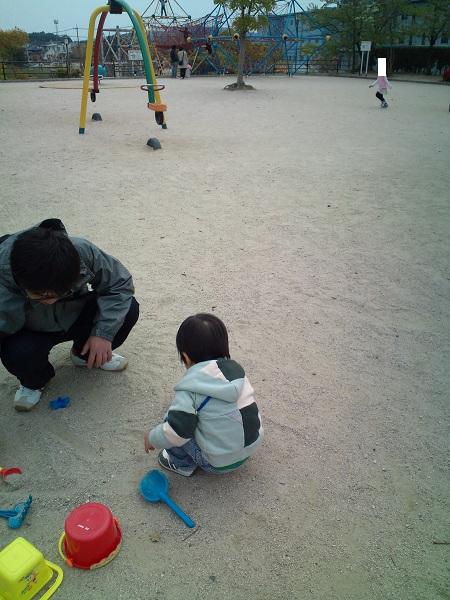 白水公園・砂遊び2