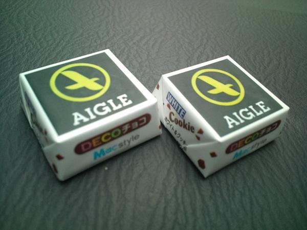 AIGLEのチロルチョコ