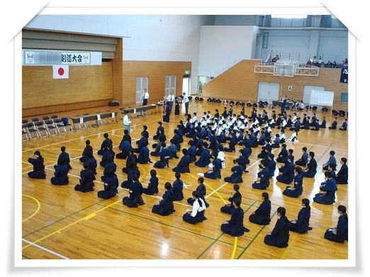 剣道大会開会式