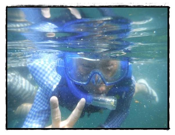水中ピース