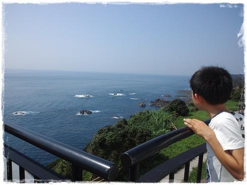 本州最南端の灯台からの眺め