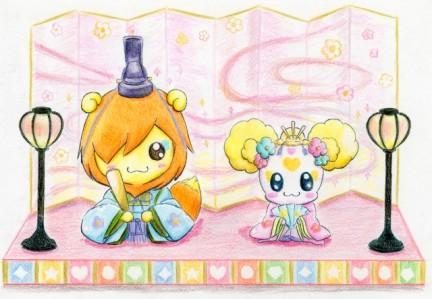 ブログ用 キャンディ&ポップひな人形(大)