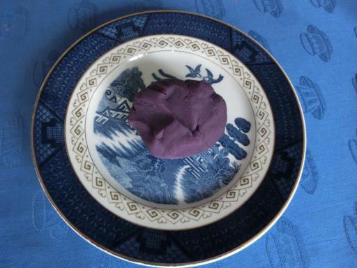 紫イモのオハギ