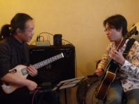 受講者ギターとg村山義光講師