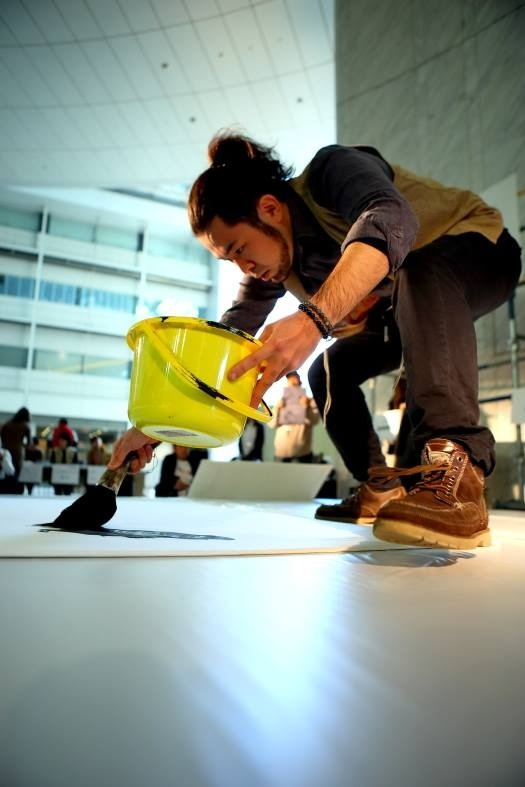 『大江戸左官祭り』(晴海トリトン) 書:遠藤夕幻 写真撮影:林建次3