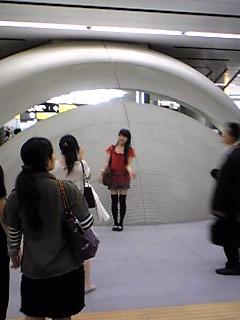 渋谷駅記念撮影