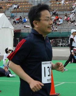 豊平川マラソン(ハーフ)ゴール直前の私
