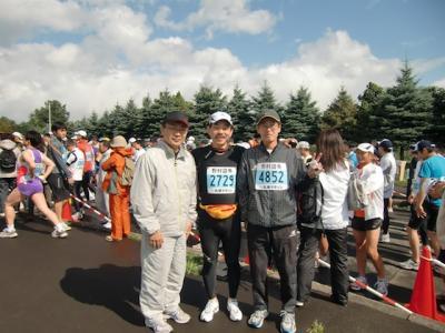札幌マラソン スタート前