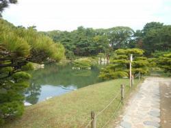 秋の広島城内堀の風景