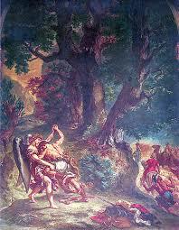 ドラクロワ ヤコブと天使の闘い