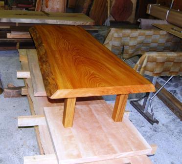 ケヤキ小テーブル