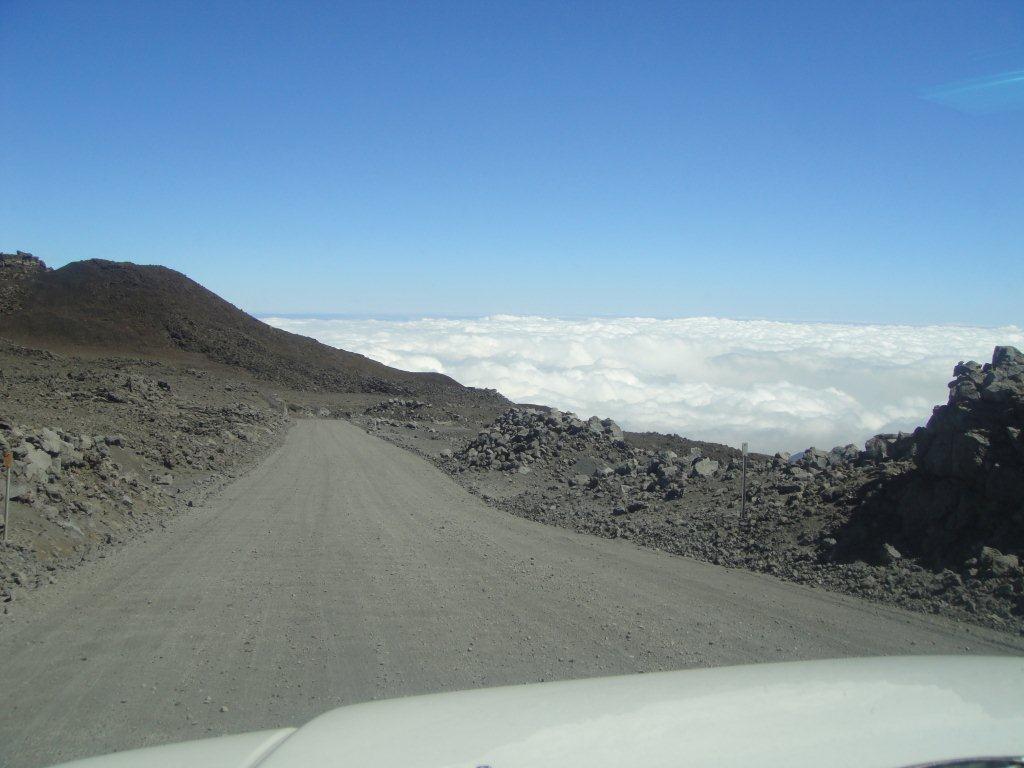 Driving down Mauna Kea