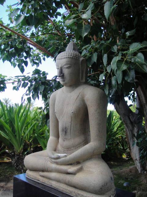 Buddha figure at Mauna Kea Beach Hotel