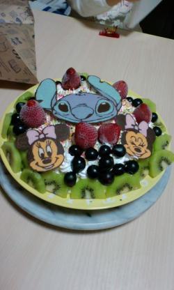 Mちゃん誕生日ケーキ