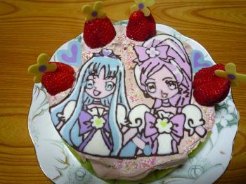 ハートキャッチプリキュアケーキ