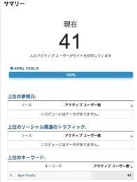 サマリー  Google Analytics 1