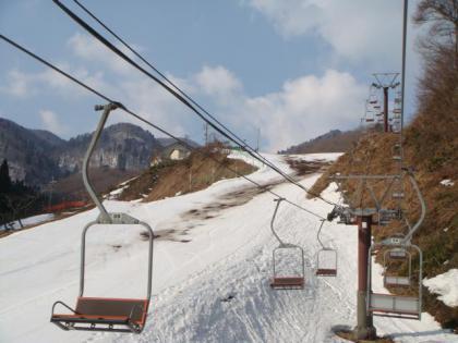春スキーの万場・奥神鍋スキー場