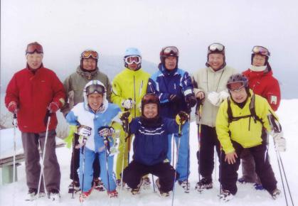 銀嶺会記念写真今庄365スキー場