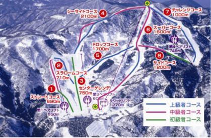 今庄365スキー場ゲレンデ・マップ