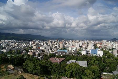 高知城 眺め