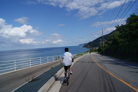 輪島 日本海 サイクリング