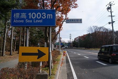 軽井沢 標高1003m