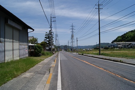 パンクした道 広島