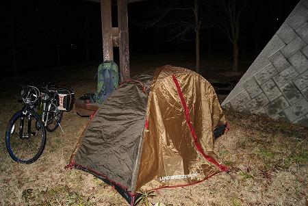 初テント泊まり