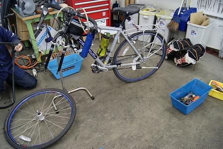 解体自転車