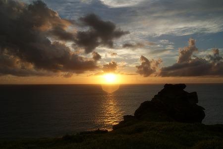 石垣島 夕日 終わり