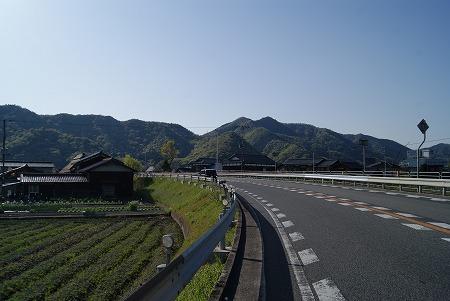 鳥取に向かう途中の景色