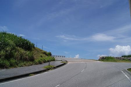 与那国 道 青い空