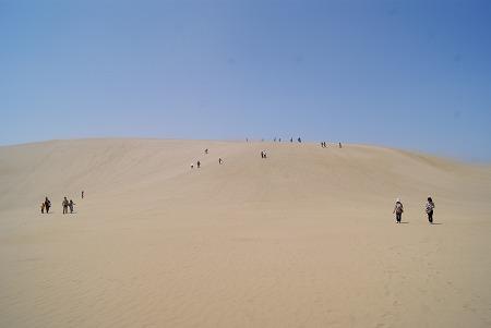 鳥取砂丘の大きい丘